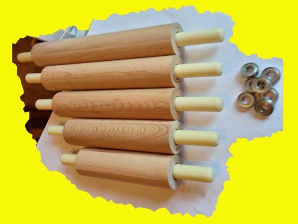 деревянная скалка из бука большого размера