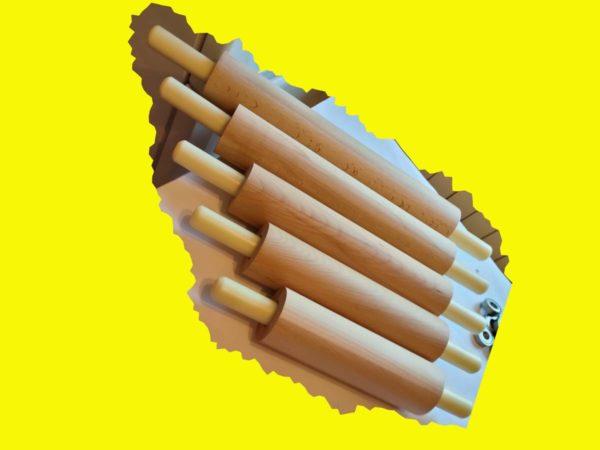 Деревянные скалки для изготовления пельменей